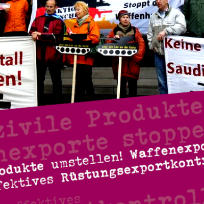 Protestaktion vor Rheinmetall am 11. Mai 2021