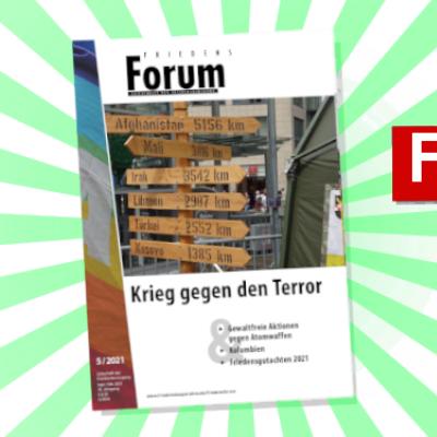 Heft 5/2021 des FriedensForums ist erschienen.