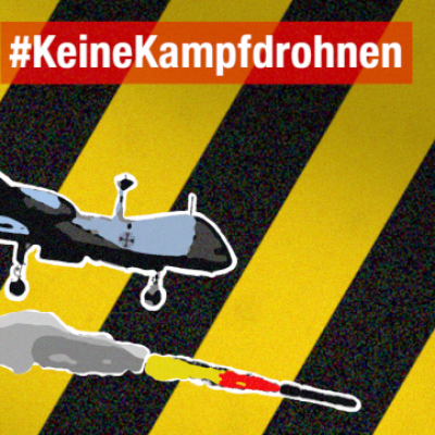 Hilf mit, die Anschaffung bewaffneter Drohnen für die Bundeswehr zu verhindern