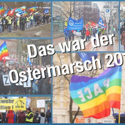 Zu den Ostermärschen 2018 zog es Zehntausende auf die Straße.