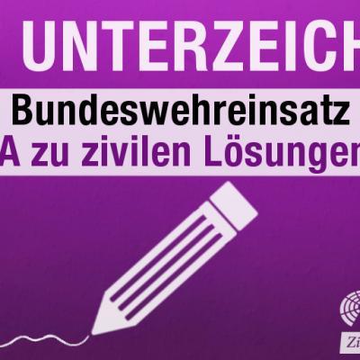 Jetzt unterzeichnen Nein zum Bundeswehreinsatz in Syrien