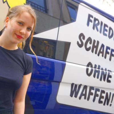 In den letzten zwei Monaten unterstützte Valerie die Arbeit der Friedenskooperative. Vergangene Woche endete ihr Praktikum.