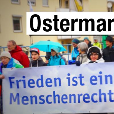 Alle Infos zum Ostermarsch 2019 gibts beim Netzwerk Friedenskooperative