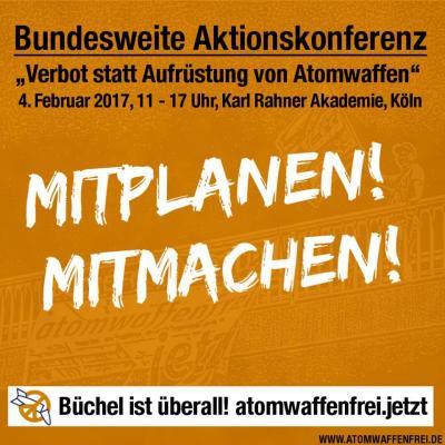 """Aktionskonferenz """"Verbot statt Aufrüstung von Atomwaffen"""" in Köln"""