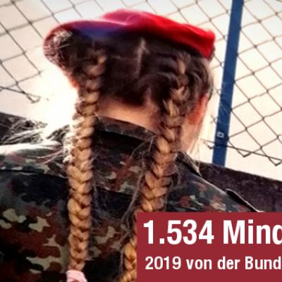Zahl der Minderjährigen in der Bundeswehr bleibt auch 2019 hoch
