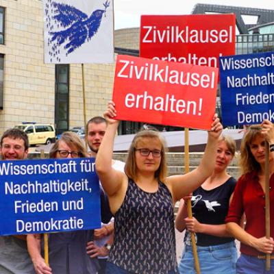 Wir setzen uns ein für den Erhalt der Zivilklausel im NRW-Hochschulgesetz